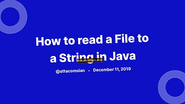 Java - čitač u niz
