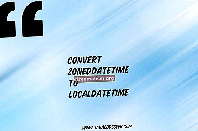Converteer Datum naar LocalDate of LocalDateTime en terug