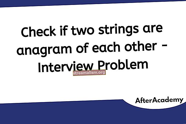 Controleer of Two Strings anagrammen zijn in Java