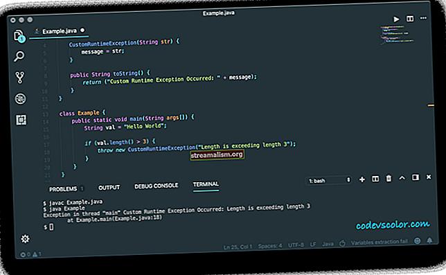 Hozzon létre egy egyedi kivételt a Java-ban